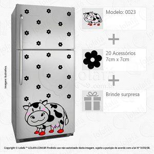 Adesivos Para Geladeira Vaca Mod:23