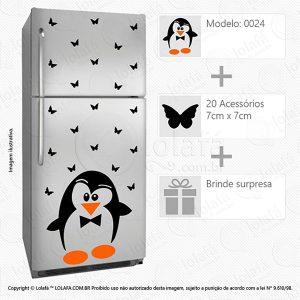 Adesivos Para Geladeiras Pinguim Mod:24