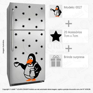 Adesivos De Geladeiras Pinguim Mod:27