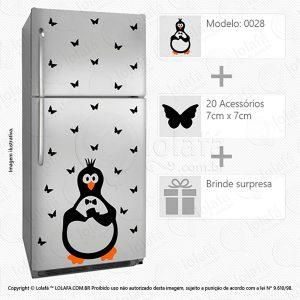 Adesivo Geladeira Pinguim Mod:28