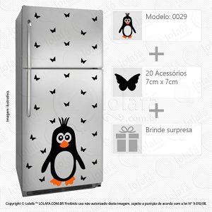 Adesivos Geladeira Pinguim Mod:29