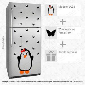 Adesivos Para Geladeira Pinguim Mod:33