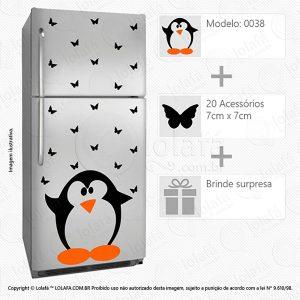 Adesivo Geladeira Pinguim Mod:38
