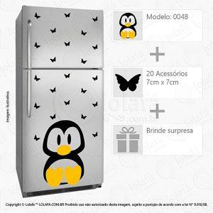 Adesivo Geladeira Pinguim Mod:48