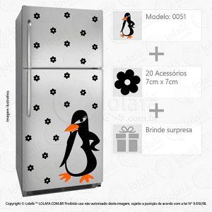 Adesivo Para Geladeira Pinguim Mod:51