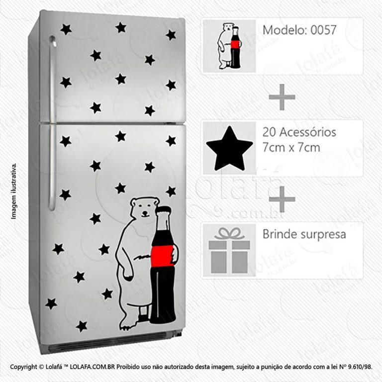 Adesivos De Geladeiras Coca-Cola Mod:57