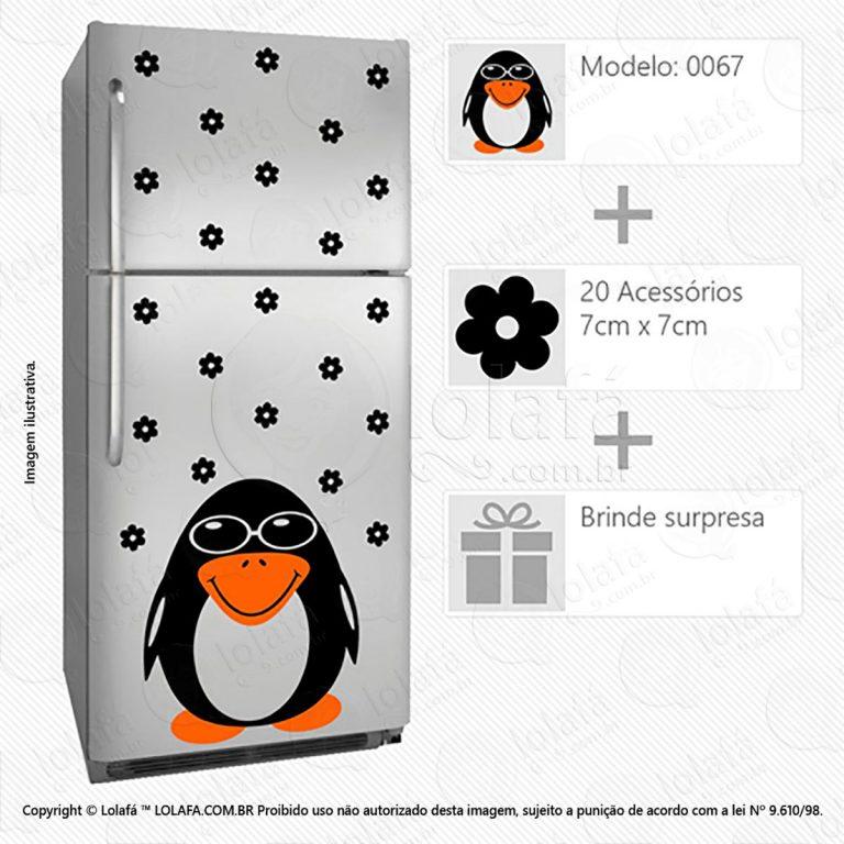 Adesivos De Geladeiras Pinguim Mod:67