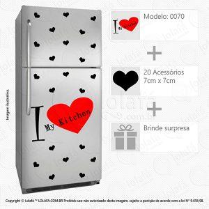 Adesivos Geladeiras Amo Cozinha Mod:70