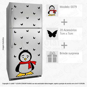 Adesivos Geladeira Pinguim Mod:79