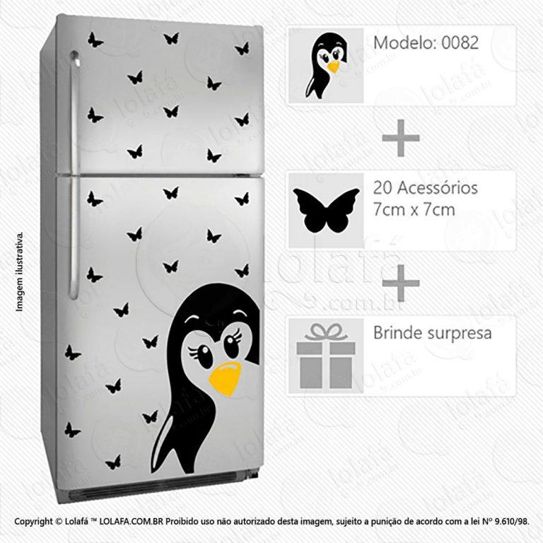 Adesivo Para Geladeiras Pinguim Mod:82