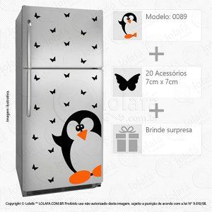 Adesivos Geladeira Pinguim Mod:89