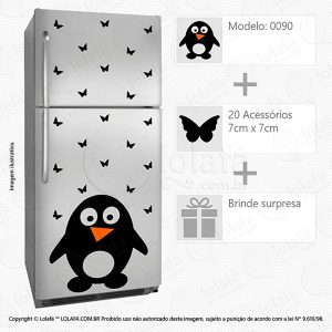 Adesivos Geladeiras Pinguim Mod:90