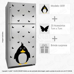 Adesivo Para Geladeira Pinguim Mod:91