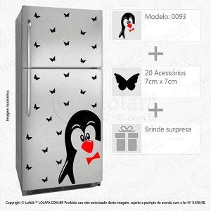 Adesivos Para Geladeira Pinguim Mod:93