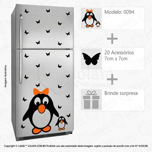 Adesivos Para Geladeiras Pinguim Mod:94