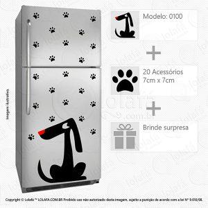 Adesivos Geladeiras Cachorro Mod:100