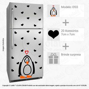 Adesivos Para Geladeira Pinguim Mod:103
