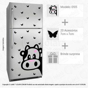Adesivo De Geladeira Vaca Mod:105