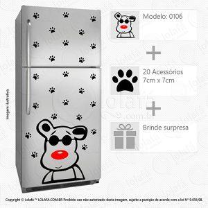 Adesivos De Geladeira Cachorro Mod:106