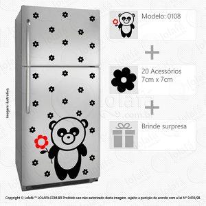 Adesivo Geladeira Urso Mod:108