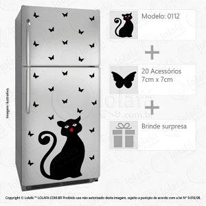Adesivo Para Geladeiras Gato Mod:112