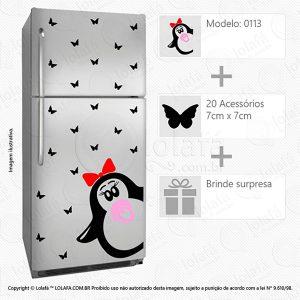 Adesivos Para Geladeira Pinguim Mod:113