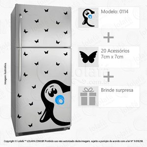 Adesivos Para Geladeiras Pinguim Mod:114