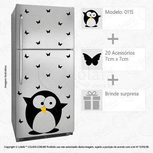 Adesivo De Geladeira Pinguim Mod:115