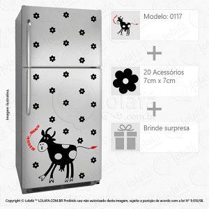Adesivos De Geladeiras Vaca Mod:117