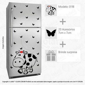 Adesivo Geladeira Vaca Mod:118