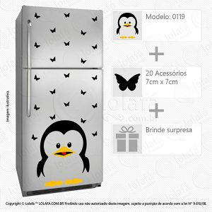 Adesivos Geladeira Pinguim Mod:119