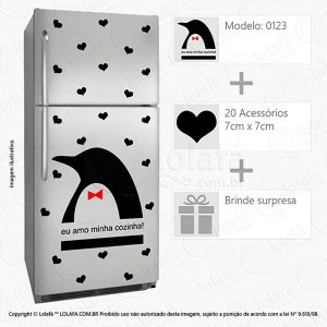 Adesivos Para Geladeira Pinguim Mod:123