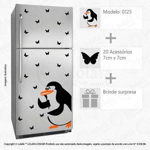 Adesivo De Geladeira Pinguim Mod:125