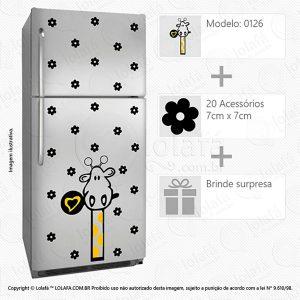 Adesivos De Geladeira Girafa Mod:126