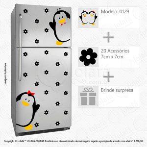 Adesivos Geladeira Pinguins Mod:129