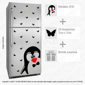 Adesivo Para Geladeira Pinguim Mod:131