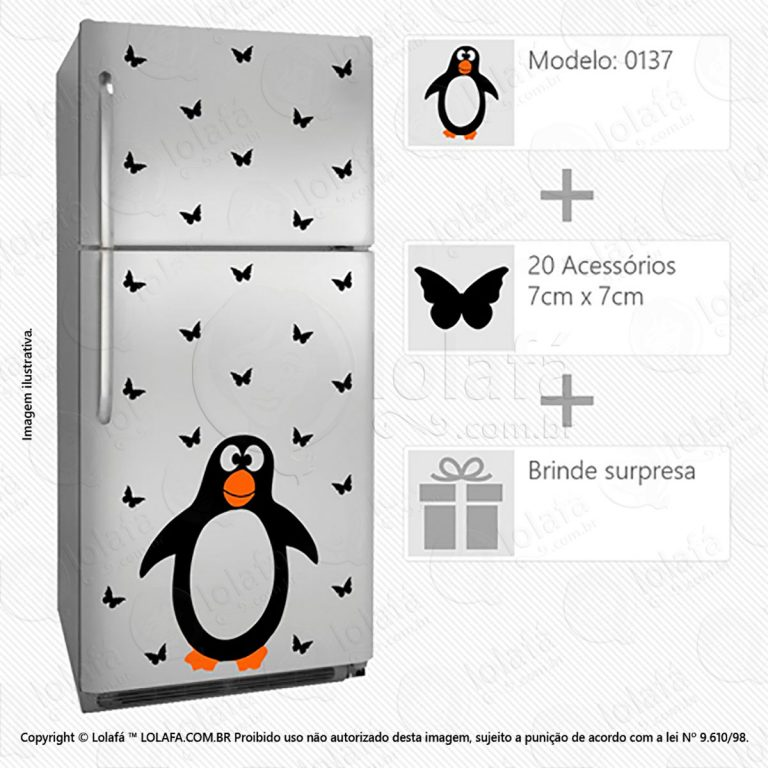 Adesivos De Geladeiras Pinguim Mod:137