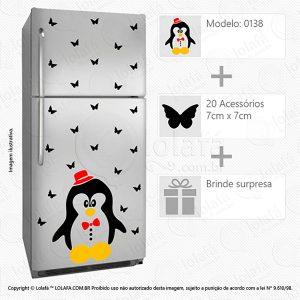 Adesivo Geladeira Pinguim Mod:138