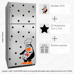 Adesivo Para Geladeira Pinguim Mod:141