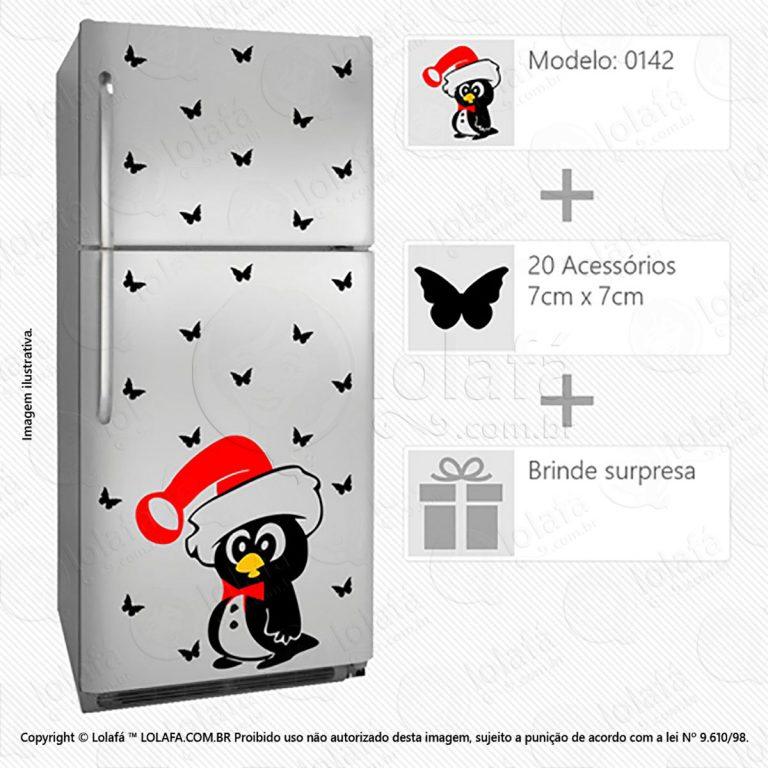 Adesivo Para Geladeiras Pinguim Mod:142