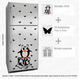 Adesivos Para Geladeira Pinguim Mod:143