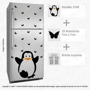 Adesivo Geladeira Pinguim Mod:148