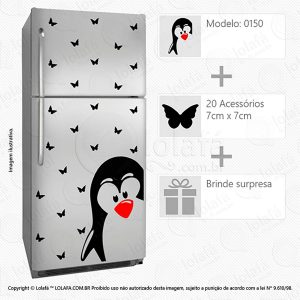 Adesivos Geladeiras Pinguim Mod:150