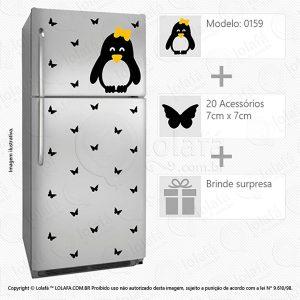 Adesivos Geladeira Pinguim Mod:159