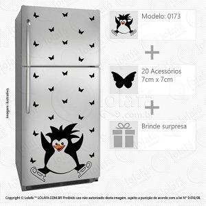 Adesivos Para Geladeira Pinguim Mod:173