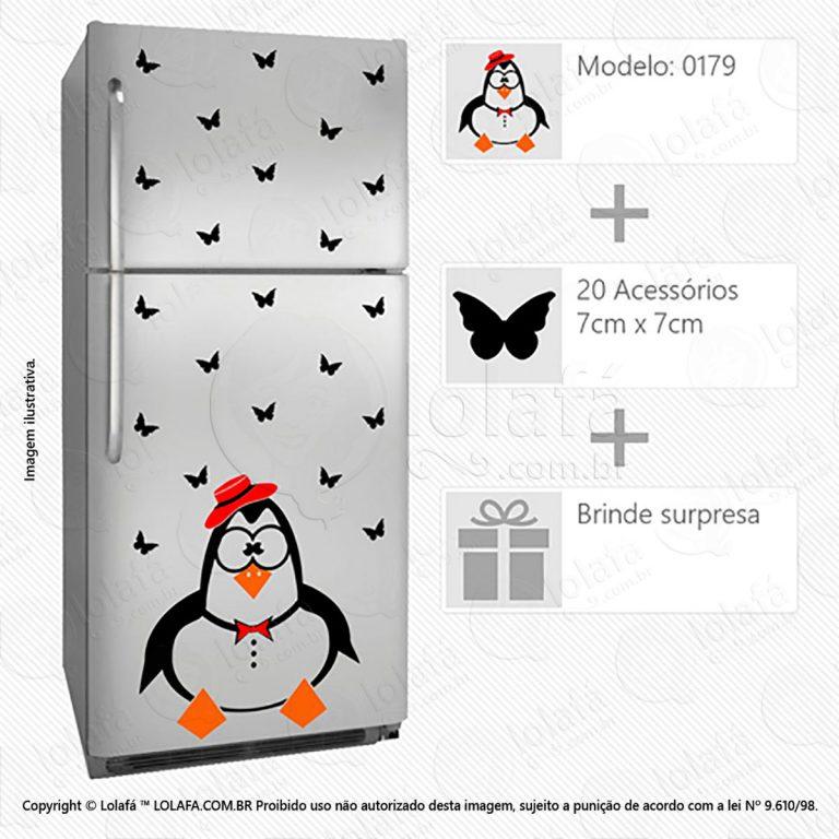 Adesivos Geladeira Pinguim Mod:179