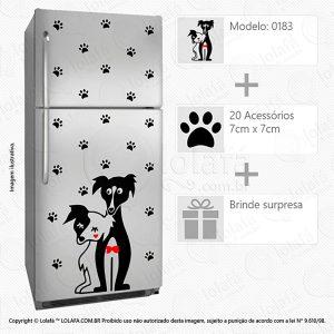 Adesivos Para Geladeira Cachorros Mod:183