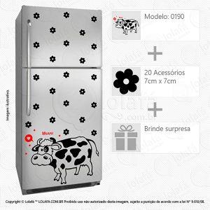 Adesivos Geladeiras Vaca Mod:190