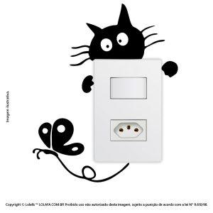 Adesivo Interruptor Gatinho Mod:17