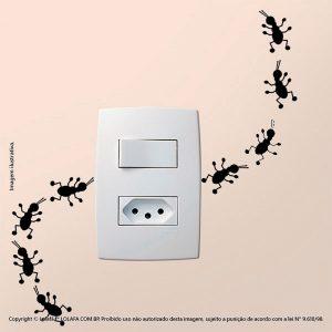 Adesivo Para Interruptor Formiguinhas Mod:21